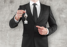 Man giving a key Royalty Free Stock Photo