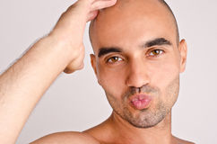 Man giving a kiss. Stock Photography