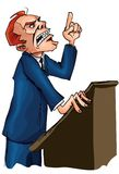 Man giving a passionate speech Stock Images