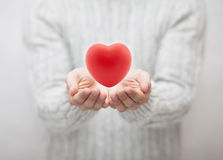 Man giving red heart Royalty Free Stock Photography