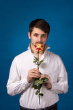 Man giving the red roses Royalty Free Stock Photos