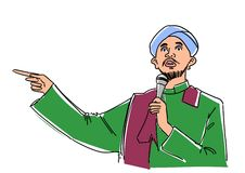 Man giving a religious speech Stock Images