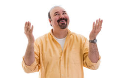 Man giving thanks to God for a successful outcome Royalty Free Stock Photos