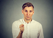 Man giving thumb, finger figa gesture you get zero nothing Royalty Free Stock Image