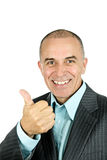 Man giving thumbs-up Royalty Free Stock Photos