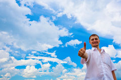 Man giving thumbs up Royalty Free Stock Images