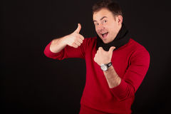 Man giving thumbs up Royalty Free Stock Image