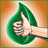 Man Giving Thumbs Up for Going Green Royalty Free Stock Images