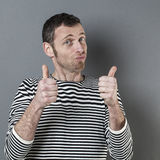 Man giving the thumbs up Stock Image