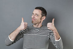 Man giving the thumbs up Stock Images