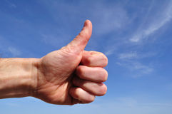 Man Giving Thumbs Up Sign Stock Photography