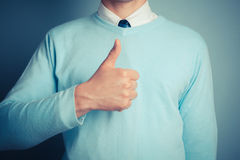 Man giving thumbs up Royalty Free Stock Photos
