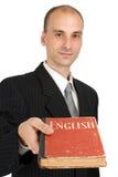 Man giving you a book Stock Photos