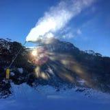 Man gjord vinter Fotografering för Bildbyråer