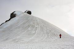 Man On A Glacier Stock Images