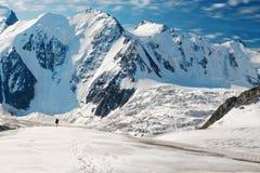 Man on glacier Stock Photos