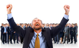A man glad in the background Royalty Free Stock Images