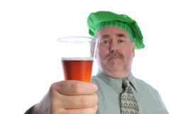Man with glass of beer Royalty Free Stock Photo