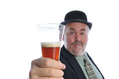Man with glass of beer Stock Photos