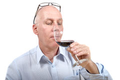 Man with glass of wine Stock Photos