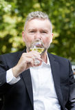 Man with a glass of wine Royalty Free Stock Photos