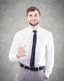 Man with a glass Stock Photos