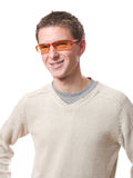 Man with glasses Stock Photo