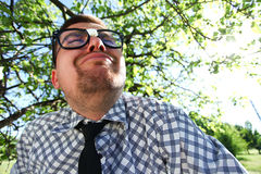 A man in glasses Royalty Free Stock Images