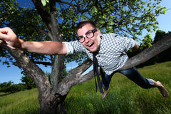 A man in glasses Royalty Free Stock Photography