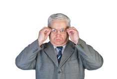 Man and glasses Royalty Free Stock Photography