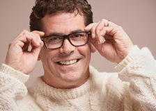 Man with glasses Royalty Free Stock Photos