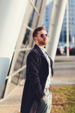 Man in glasses-aviators Royalty Free Stock Photo