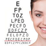 Man with glasses on eyesight test Stock Photos