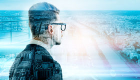Man in glasses Paris Royalty Free Stock Photos