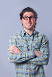Man in glasses Stock Images