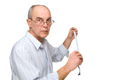 Man in glasses with  Roulette Royalty Free Stock Photography