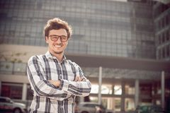 Man in glasses Royalty Free Stock Images