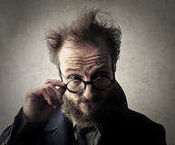 Man in glasses royalty free stock photography