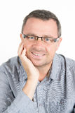 Man with glasses and unshaven Stock Photos