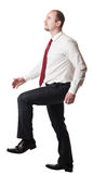Man go up position Royalty Free Stock Photo