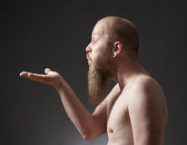 Man with Goatee Beard Stock Photo