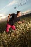 Man goes in for sports. stock photography
