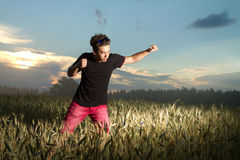 Man goes in for sports. royalty free stock photos