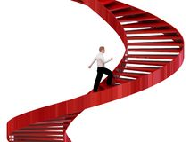 Man goes on the stairs Stock Photos