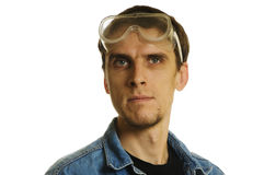 Man with goggles Stock Photo