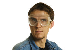 Man with goggles Royalty Free Stock Image