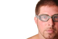 Man with goggles Stock Photos