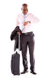 Man going on a business trip Royalty Free Stock Image