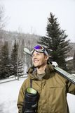 Man going skiing. Royalty Free Stock Images