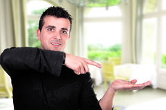 Man going thumb up Royalty Free Stock Images